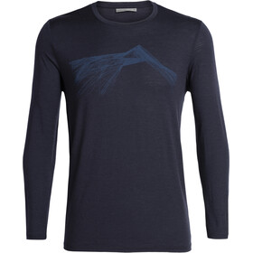 Icebreaker Tech Lite Shear LS Crewe Shirt Herre Midnight Navy